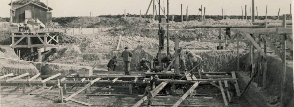 Anno 1929 ca. Bacino Cattal  (Cà Noghera )