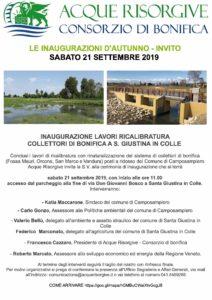 Inaugurazione lavori di ricalibratura collettori di bonifica a Santa Giustina in Colle e Camposampiero @ Santa Giustina in colle